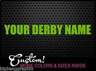 Custom YOUR DERBY NAME Vinyl Decal Die Cut Lettering Roller Derby Girl Sticker x