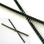 3 Pair Male Female Black 40 PCB Single Row Round Pin 2.54mm Pitch Spacing Header