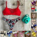 Women Bikini Set Swimwear Bandage Push-Up Padded Swimsuit Bathing Beachwear Chic