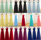 New Long Chiffon Bridesmaid Prom Dress Formal Gown Party Cocktail Evening Dress