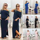 Women One Shoulder Summer Split Ladies Party Beach Casual Cocktail Maxi Dress 1X