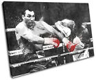 Boxing Joshua Klitschko Grunge Sports SINGLE CANVAS WALL ART Picture Print