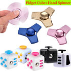 Fidget Cube+Hand Spinner Anxiety Stress Relief Focus Desk Toy Gift For Adult Kid