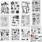 Alphabet Transparent Silicone Clear Rubber Stamp Sheet Cling Scrapbooking DIY #
