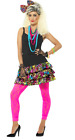 80s Fancy Dress Party Girl Kit Instant Costume - Skirt, Necklace and Headpiece