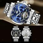 KINYUED Luxury Mens Automatic Mechanical Quartz Calendar Wristwatch Waterproof