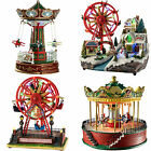 Pre Lit LED Animated Christmas Decoration Rotating Ferris Wheel Planes Carousel