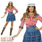 Rodeo Doll Womens Fancy Dress Wild Western Cowgirl Texan Womens Adults Costume