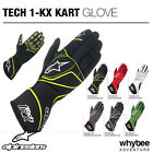 Sale! 3551815 Genuine Alpinestars TECH 1 KX KART GLOVES Adult Sizes S to XXL