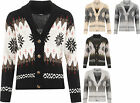Womens Christmas Snowflake Button Open Festive Knitted Top Ladies X-Mas Cardigan