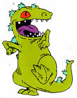 """6""""-10.5"""" RUGRATS REPTAR  WALL SAFE STICKER BORDER CUT OUT"""