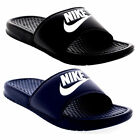 Men's Nike Benassi Flip Flops Sandals Pool Slippers Beach Shoes - Black & Navy