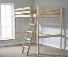 Loft Bunkbed Double 4ft 6 solid pine High Sleeper bunk bed - HEAVY DUTY (EB64)