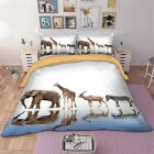 Animal Single Queen King Size Duvet Doona Quilt Cover Set Elephant Bed Linen New
