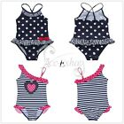 Girls Kids Swimwear Bikini One Piece Swimsuit Swimmers Beachwear Bathers Sz 2-7