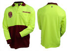 2017 State of Origin QLD Queensland Maroons LONG Sleeve Polo HI VIS Work Shirt