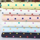 rainbow spots 100 % cotton poplin  fabric Per half metre/fat quarter