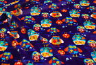 Double Sided Super Cuddle Soft Fleece Fabric Material - PURPLE OWLS