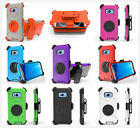 Armor heavy high impact fullbody Hard case  belt clip with ring f Samsung S8 S8P