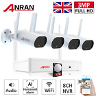Home Security System Wireless 4CH IP Camera CCTV 1080P 1TB HDD Outdoor WiFi Kit