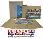 C6 A6 BOARD BACKED ENVELOPES for POSTCARDS STAMPS size 190x140mm HARD CARD BACK