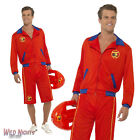 """FANCY DRESS COSTUME # MENS 80s BAYWATCH MALE WITH LONG SHORTS SIZE 38""""-44"""""""