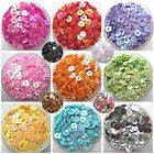 CHIC DIY 4mm Round Faceted Loose Sequins Paillettes Sewing Wedding Clothes Craft