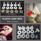 5 PLASTIC JOINTS 35mm to 65mm to make a Complete Teddy Bear, Plush Animal PJ-1