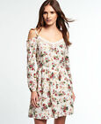New Womens Superdry Peekaboo Lacy Dress Vintage Floral
