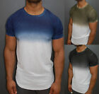 A.F.E.X D.G Y&R STAR Casual 2 Tone Fade Dye Slim Muscle Fit Fitted T-Shirt
