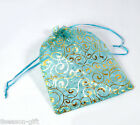 Wholesale Lots 17x23cm Skyblue Organza Wedding Gift Bags&Pouches