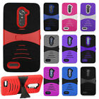 For ZTE Max XL N9560 Hard Gel Rubber KICKSTAND Case Phone Cover Accessory