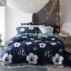 Floral Duvet Quilt Doona Cover Set Queen King Size Pillowcases Egyptian Cotton