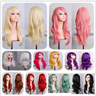"""Multicolor 28"""" Women Anime Long Curly Wavy Synthetic Hair Party Cosplay Full Wig"""