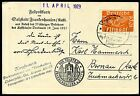 GERMANY FRANKENHAUSEN KYFFHAUSER 6/19/21 AIR MAIL ART POSTCARD TO BERNAU