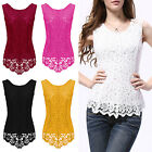 CHIC New Fashion Women's Lace Blouse Sleeveless Shirt Doll Chiffon Tops Summer
