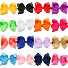 12*8cm Kids Girl Grosgrain Ribbon Bowknot Bow Hair Clip Hair Pin Accessories hot