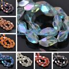 10pcs 16X10mm Oval Faceted Glass Crystal Loose Spacer Beads Jewelry Making DIY