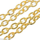 Wholesale Lots Gold Plated Chains Findings 3x2mm Wholesale