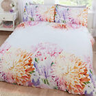 New Unique Lily & Peony Floral Print – Duvet Cover Set in Multi Colours
