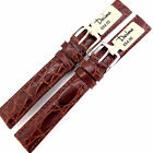 16mm DARLENA 1560 REAL CROCODILE  LEATHER REPLACEMENT WATCH STRAP BROWN.