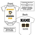 PERSONALIZED PITTSBURGH PENGUINS FAN BABY GERBER ONESIE SOCKS HAT CUSTOM MADE $22.99 USD on eBay