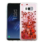 For Samsung Galaxy S8 / S8 PLUS Liquid Glitter Quicksand HARD Case Phone Cover