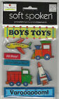 U CHOOSE  Assorted Soft Spoken BOY 3D Stickers pirate brother stars toys sports