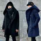 Winter Men's Hooded Jacket Slim Fit Long Coat Overcoat Warm Casual Outwear Coat