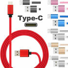 LOT Nylon Braided Rope USB-C  3.1 Type-C Data Sync Charger Charging Cable Cord