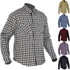 Oxford Kickback Motorcycle Shirt Motorbike Lumberjack Check Plaid GhostBikes