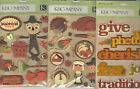 U CHOOSE Assorted K&Company Johnny Yanok FALL HARVEST 3D Stickers thanksgiving