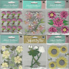 U CHOOSE  Assorted Jolee's FLOWERS 3D Stickers lilies daisies tulips marigolds