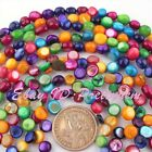 Nautral Freeform Multicolor Shell MOP Gemstone Beads Spacer Loose Strand 15""